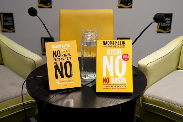 'Decir no no basta', último libro de la periodista Naomi Klein