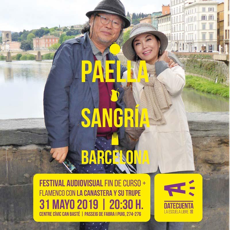 Paella Sangría Barcelona Turismo masivo en Barcelona Escuela de fotografía DateCuenta