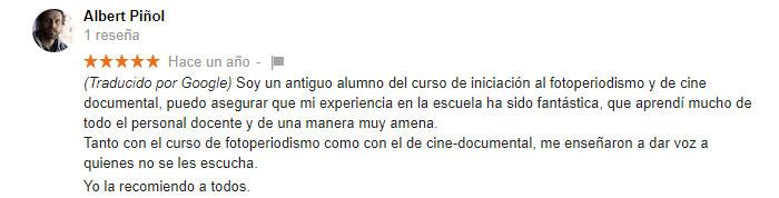 escuela de cine barcelona opinones