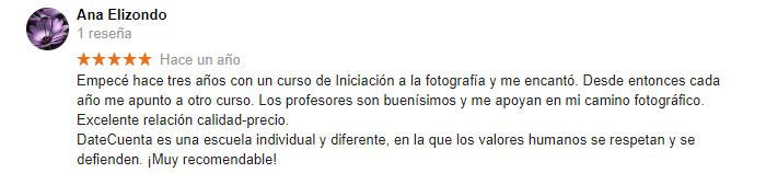 escuela fotografia profesional Barcelona reseña Ana
