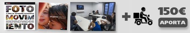 Agradecimiento + precompra del libro + libro 'Mujeres valientes' de DateCuenta + taller de fotografía o redes sociales de 6 horas en Barcelona (grupos de 8 personas) + Envío peninsular