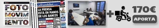 Agradecimiento + precompra del libro + suscripción a la revista 'Cafè amb Llet' + taller de fotografía o redes sociales de 6 horas en Barcelona (grupos de 8 personas) + Envío peninsular