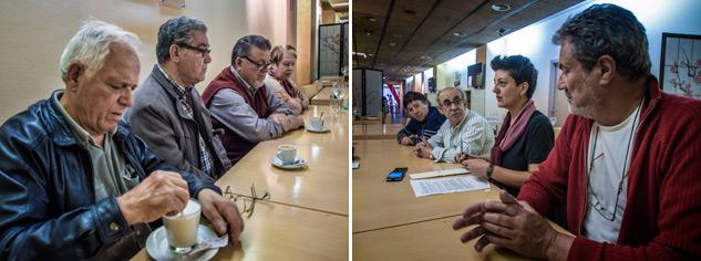La Comissió de Gent Gran surgida durante el '15M' cumple 3 años. | Foto: JORGE LIZANA