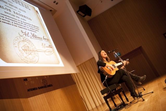 Lucía Socam en el Ateneu de Barcelona | Foto: AITOR ERNÁNDEZ