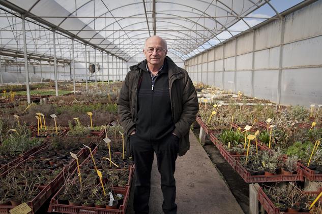 El agricultor y activista Josep Pàmies, en uno de los invernaderos | Foto: AITOR FERNÁNDEZ