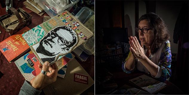 Izquierda: Las cartoneras también reeditan obras con el fin de difundir la cultura que se silencia. Derecha: La Verónica Cartonera surge de la conexión entre una muerte y un nacimiento. | Fotos: JORGE LIZANA