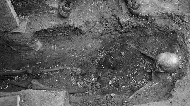 Los restos descubiertos del guerrillero Perfecto de Dios| Foto: CARLOS SUÁREZ