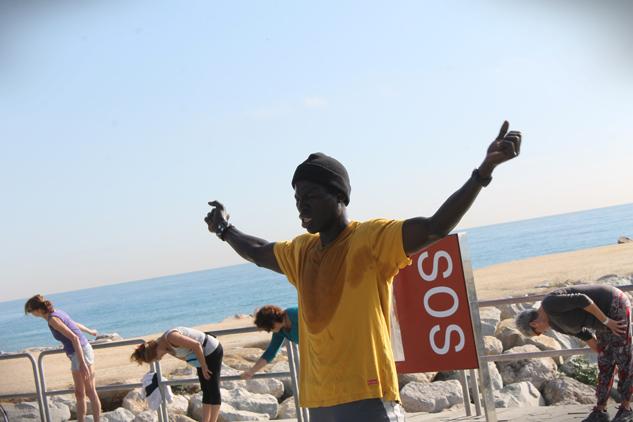 El guerrero Amadou | Foto: DANIELA FRECHERO
