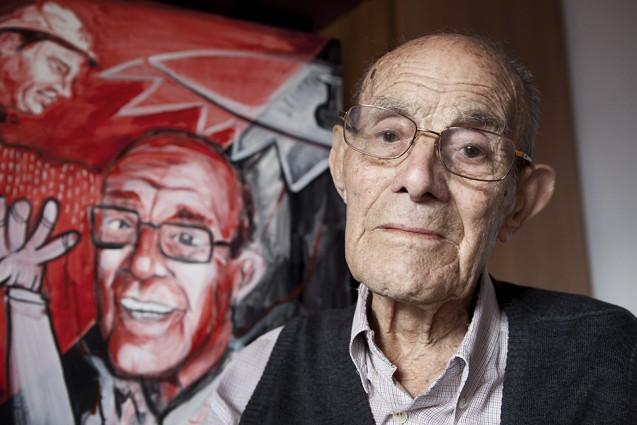 Félix Padín nunca dejó de participar en documentales para divulgar la memoria libertaria y antifranquista. | Foto: CARLOS SUÁREZ
