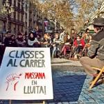Clases en la calle contra los recortes en educación