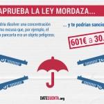 Ley Mordaza: lo que ya no podrás hacer si la aprueban